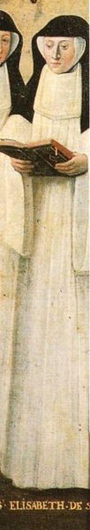 Elisabeth av Schönau, maleri fra klosteret Mariënlof i bydelen Kerniel i Borgloon i provinsen Limburg i Belgia (1635)